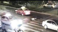 차 사고로 쓰러진 여성을 도로에 방치하여 2차 사고로 사망(중국)