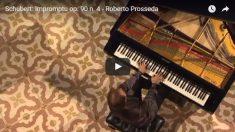 슈베르트 즉흥곡 op90의 4, 프로세다(R. Prosseda)연주