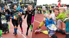 3년간 걷지 못하는 아들을 데리고 마라톤에 참여한 아버지