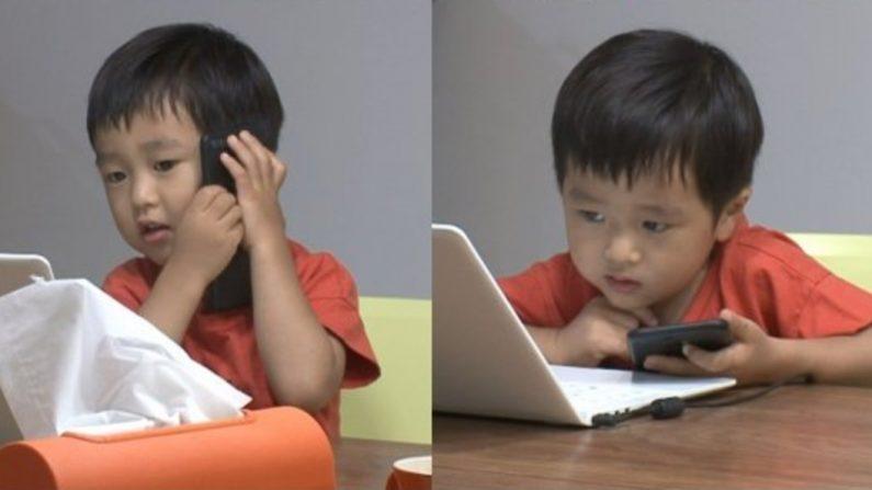 '슈돌' 승재, 키보드 연타에 아빠 업무 전화 받아 폭소