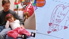 뇌종양으로 하늘로 간 6세 소녀-가족을 위해 '사랑의 메모'를 남기다