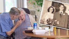 알츠하이머병을 앓고 있는 아내를 매일 찾아가서 돌보는 90대의 남편