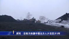 공기 오염으로 중국 동북 주민 3~7년 생명 단축