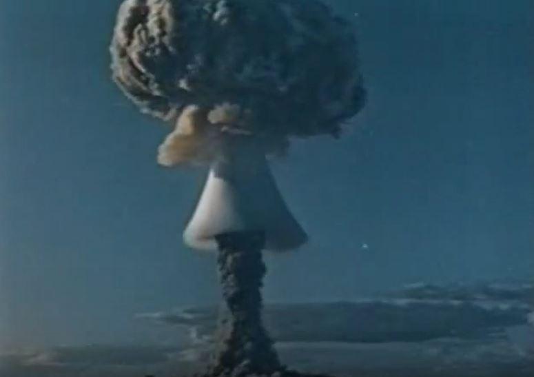 러시아 수소폭탄 실험(1953) 유튜브 캡처