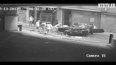 [영상] 골목 빠져 나가려다가 차량 날벼락..