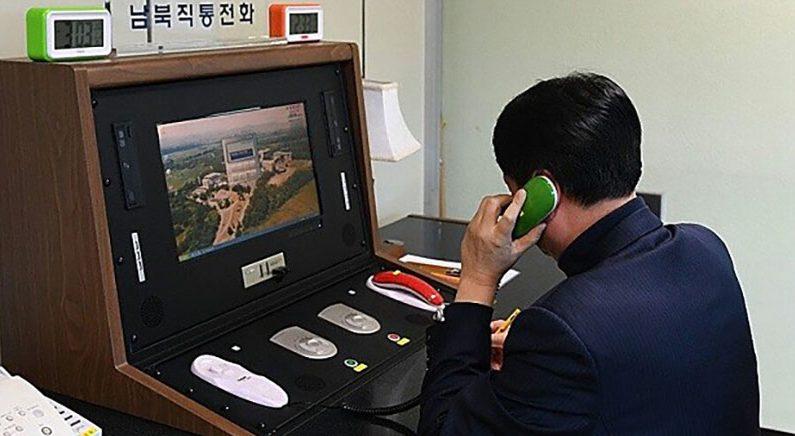 북한의 남북 핫라인 재 개통에 한미 약간 엇갈린 반응