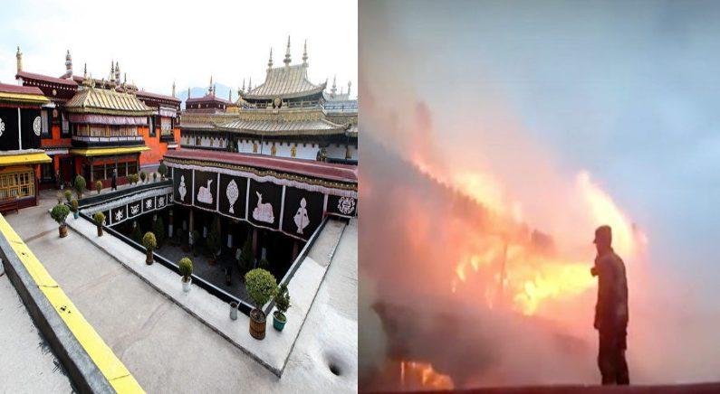 티베트 성지 조캉사원에 큰불..중국, 정보 통제(영상)