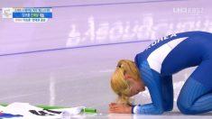 마음 고생한 김보름, 매스스타트 은메달..태극기 펼치고 '사죄'