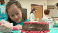 모르는 사람 '생일 케이크' 굽는 아이들