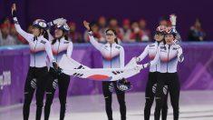 쇼트트랙 여자 계주, '빛나는 팀워크'로 금메달 획득
