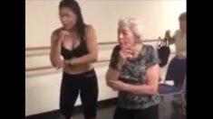 강렬하고 빠른 남미 음악에 나이 잊은 90세 줌바 댄서