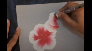 그림이 재밌어 보이는 영상, 과감한 붓터치 몇 번에 '만개한 꽃'