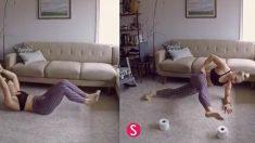 두루마리 휴지만 있으면 되요! 라인이 살아나는 초 간단 운동법(영상)