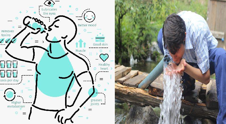 '물'을 충분히 마시지 않으면 나타나는 증상