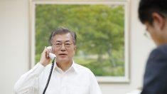 """한미정상 통화 """"北 비핵화 위해 매단계 연대"""""""
