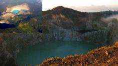 인도네시아 '끌리무뚜' 산에서 다양한 색을 내는 신비한 호수들