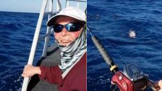 '소파'만 한 물고기를 잡은 '할머니' (영상)