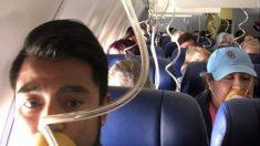 美사고 여객기 승객들, 산소마스크 잘못 착용