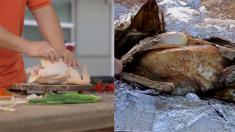 황금색의 노릇노릇 구워진 치킨, 눈으로 먼저 맛을 느끼는  중국 최고의 치킨 요리법(영상)