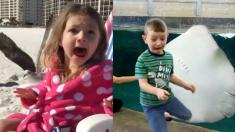 (영상) 각종 동물의 '돌발' 행동에 반응하는 아이들의 레알 표정 모음