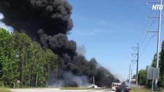 (영상) 미국 조지아 고속도로에서 비행기 추락…'인명 피해有'
