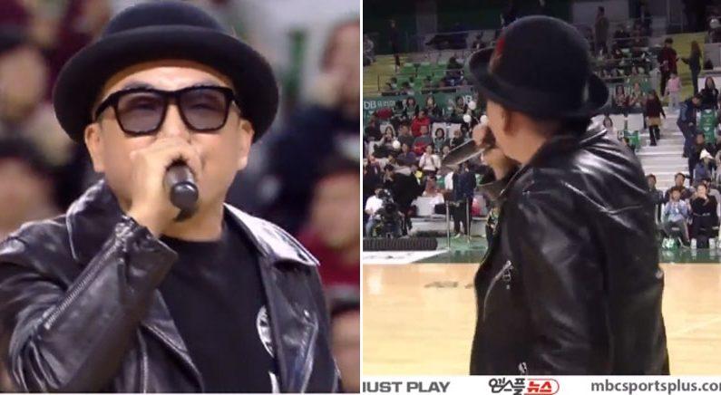 가수 박상민이 '슬램덩크' 주제가를 농구코트에서 불렀다(영상)