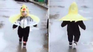 '우산의 최신 진화형' 귀엽고 깜찍한 건 덤, 자유를 만끽할 수 있는 우산 (영상)