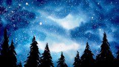 (영상) '두 가지 색으로만 그리는' 아름답고 손쉬운 은하수의 숲 그리기