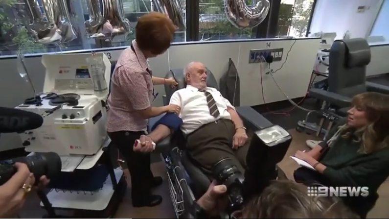 60년간 희귀혈액 기부해 어린이들 구한 할아버지의 '마지막 헌혈'