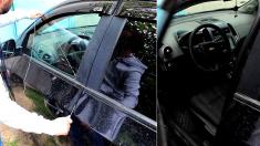 (영상) 잠긴 승용차 문, '열쇠가 없어도 절묘하게 여는 이 남자'