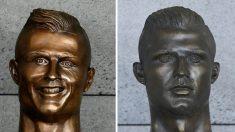 '안 닮은' 호날두 동상 교체…이번엔 닮았을까