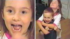 (영상) 자기 도와서 이빨 뽑아준 동생 껴안고 기뻐하는 착한 누나