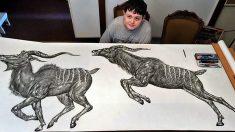 '한 번 보면 잊지 않는' 15세 천재 예술가 화제
