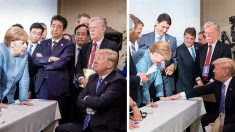 트럼프 대통령, 'G7분열 사진' 다른 사진으로 정면 반박