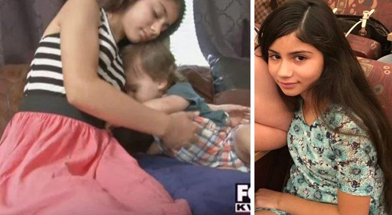 생후 15개월 동생 위해 대신 총맞은 10살 소녀