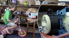 (영상) 토마스 기차를 개조한 아빠, 아이가 자전거 페달을 밟자 낭랑한 '징글벨'이
