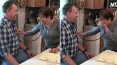 (영상) 모르는 남자 가슴에 청진기를 대고 '눈물 왈칵'한 엄마