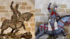 500년된 조각상에 무슨 짓을..만화 캐릭터로 전락