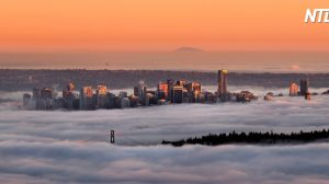 (영상) 으스스한 '유령 구름'에 뒤덮인 도시 밴쿠버, 웅장한 실제 정경