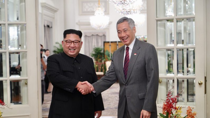 김정은, 이스타나궁서 리셴룽 총리와 회담