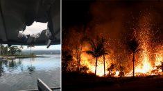 하와이 '용암폭탄' 관광객 보트에 떨어져 23명 부상