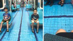 """""""지하철에 수영장이?""""..보기만 해도 시원한 대만 지하철"""