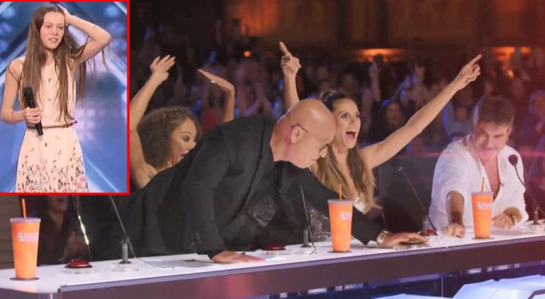 '아메리카 갓 탤런트'에서 '골든 버저'를 받은 파워풀한 목소리를 가진 소녀(영상)