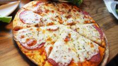피자 한 조각 훔치고… 로열패밀리된 견공 가족(영상)