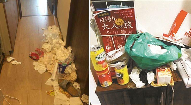 일본서 숙소 쓰레기장 만들고 떠난 中관광객…네티즌 뭇매