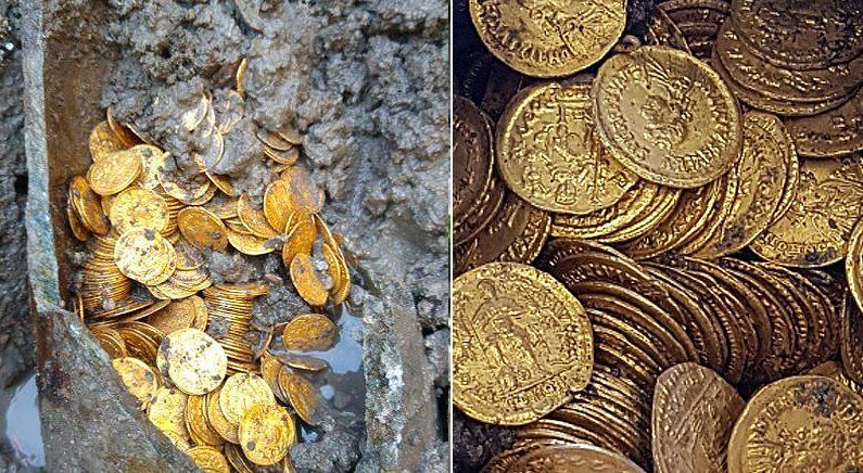 이탈리아 극장 지하실서 '로마제국 금화' 쏟아져