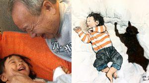 1만7000km 떨어진 손자들과 그림으로 소통하는 76세 할아버지