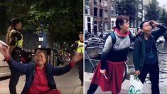 스웨덴 호스텔서 쫓겨나 통곡하던 중국인 일가족, 며칠 뒤엔 코믹 사진 올려