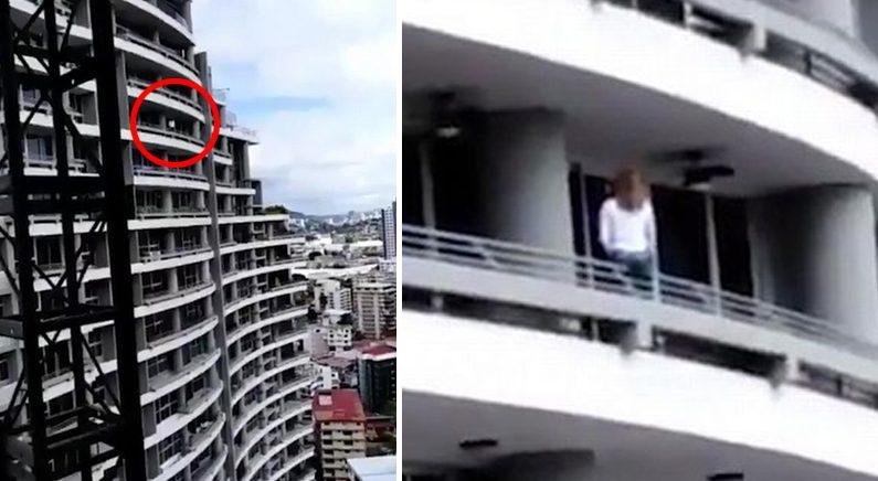20대 여성, 27층 발코니서 셀카 찍다 추락