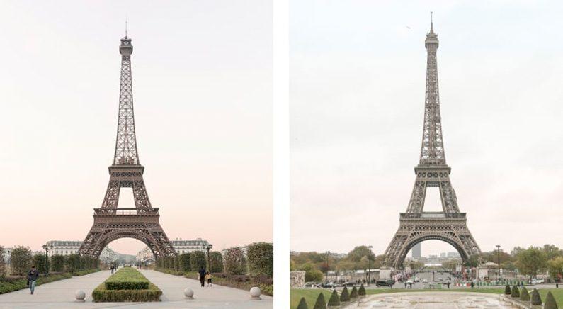 """""""어느 게 진짜 에펠탑일까요?"""""""